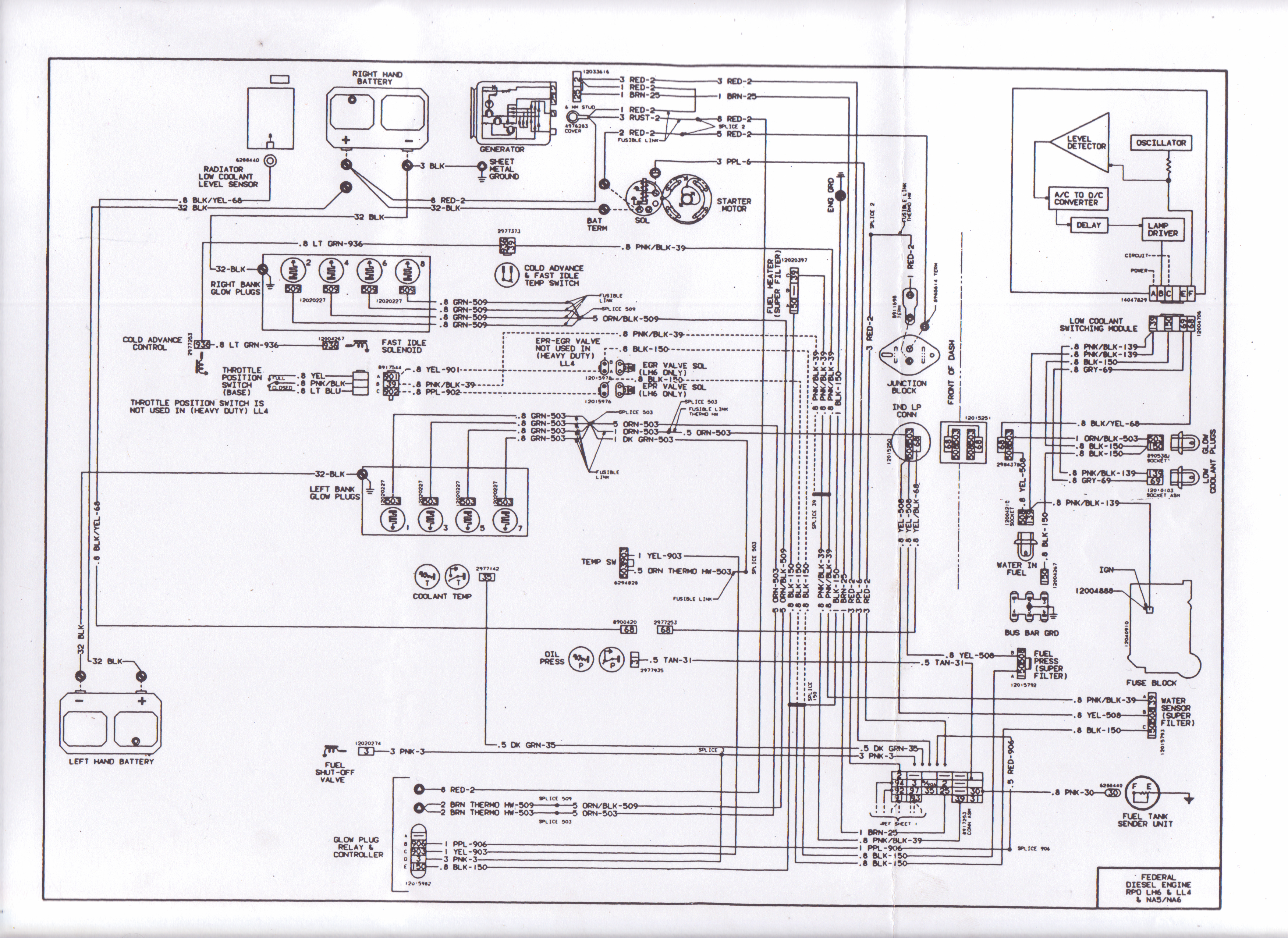 1983 wiring diagram diesel place chevrolet and gmc diesel truck  at Wiring Diagram Starting Circuit 83 Gmc 6 2